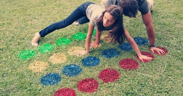 lawn twister :-) Great outdoor party game