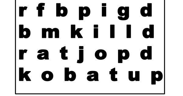 Three Letter Animal Printable