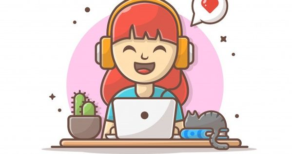 Nina Feliz Escuchando Musica Con Auricul Premium Vector Freepik Vector Musica Personas Li Nino Escuchando Musica Escuchando Musica Logotipo De Musica
