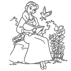 Top 10 Free Printable Beauty And The Beast Coloring Pages Online Disney Coloring Pages Belle Coloring Pages Princess Coloring Pages