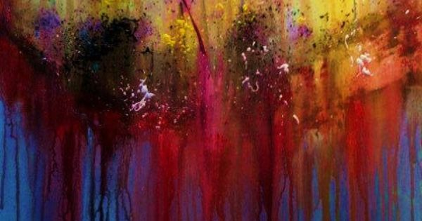 Original Acrylic Abstract Painting Confused 2 ABSTRACT By