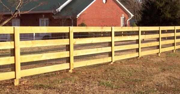Custom Wood 4 Rail Ranch Rail Fence By Mossy Oak Fence