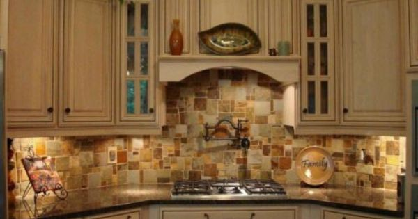 Travertine Slate Mosaic Random Tile Kitchen Backsplash Free Priority Shipping