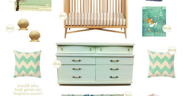 Mermaid Nursery Decor: Mint & Turquoise Themed Mermaid Nursery Decor Inspiration Board
