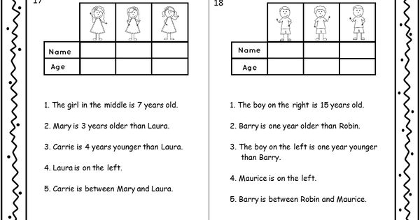 Logic puzzles, Set of and Puzzles on Pinterest
