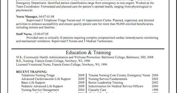 triage nurse resume sample     resumecareer info