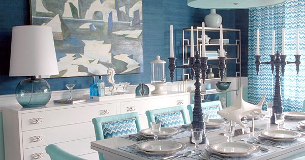 Dining room idea - Mabley Handler Interior Design - Beach House Dining
