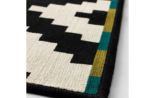 Lappljung ruta alfombra pelo corto 200x200 cm ikea for Ikea alfombra azul