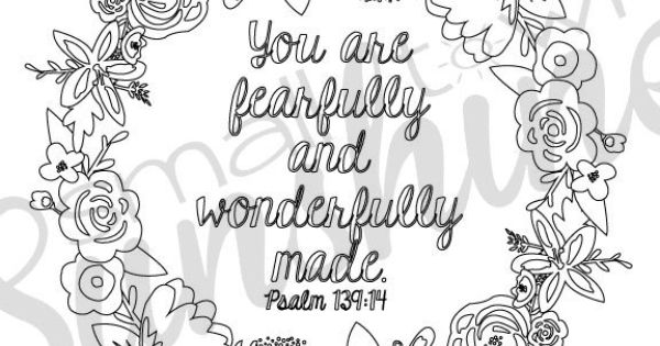 Psalm 139 14 Printable Coloring