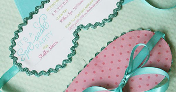 spa party invitations - printable! Or Sleepover Party Invitations!?!