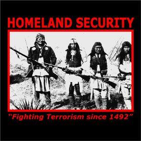 Homeland Security Fighting Terrorism Women/'s Sweatshirt Native American