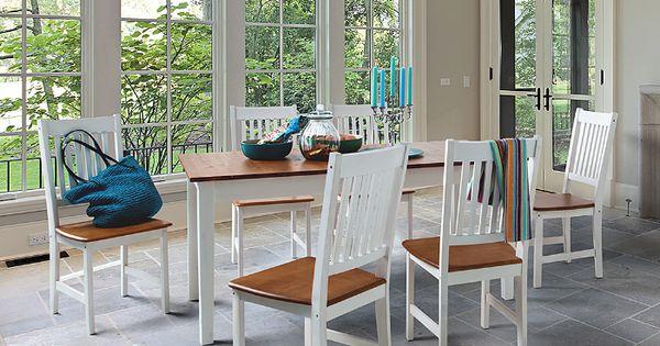 Runder Holz Esstisch Holz Weiss : ... Kiefer im Mix mit strahlendem Weiß  Weiß liebt Holz  Pinterest