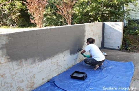 Concrete Wall Painting008 20150920 Concrete Retaining Walls Outdoor Wall Paint Backyard Retaining Walls