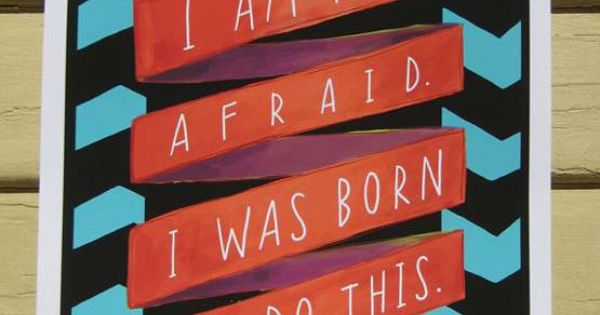 "Joan of Arc ""I Am Not Afraid"" Quote Print: 8″ x 10″"