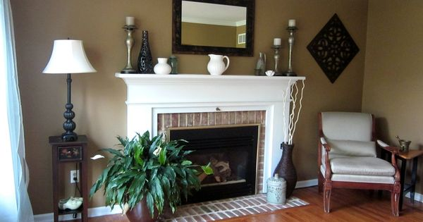 mesmerizing living room color schemes white walls | Living Room Make-Over! {Tan, White, Blue | Tan paint ...