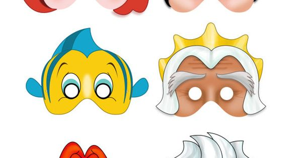 Printable Mermaid Masks Instant Download Pdf File Ariel