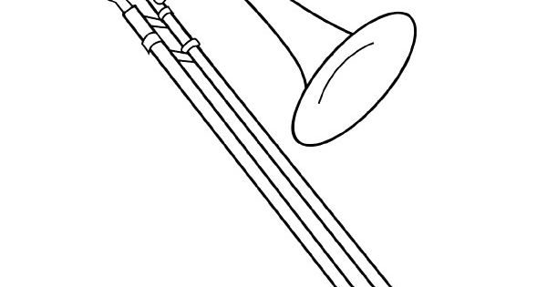 It's just a graphic of Monster trombone coloring page