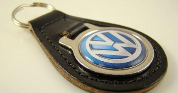 high quality keyring Rothmans Rally blue leather key ring key fob