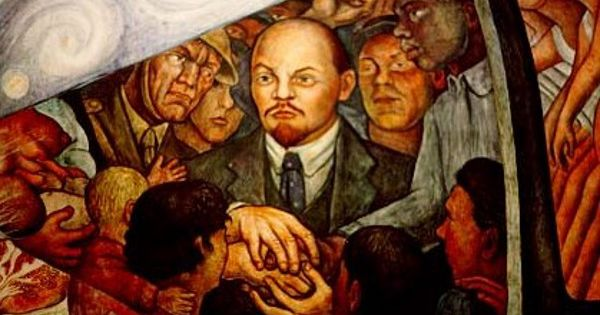 Rivera man at the crossroads 1933 detail of lenin for Diego rivera lenin mural