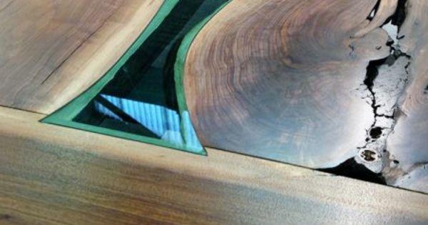 designer esstisch glas t rkis holz lackiert gaming table. Black Bedroom Furniture Sets. Home Design Ideas