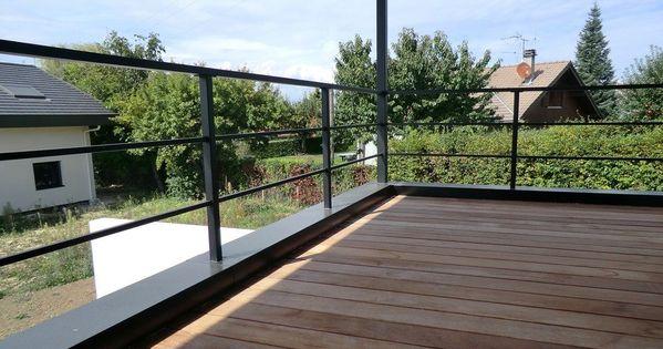 garde corps de terrasse en acier noir garde corps pinterest acier noir garde corps et acier. Black Bedroom Furniture Sets. Home Design Ideas