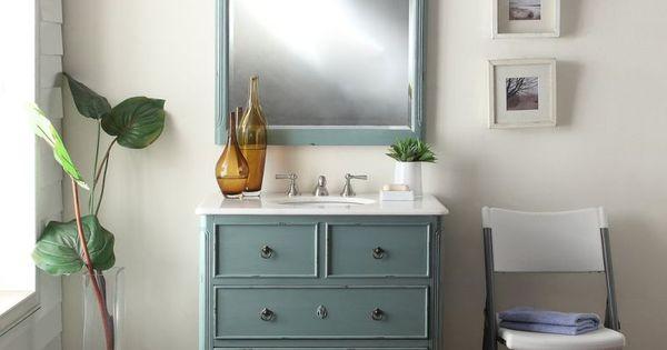 meuble salle de bains pas cher 30 projets diy meubles de salle de bains d co vintage et pas. Black Bedroom Furniture Sets. Home Design Ideas