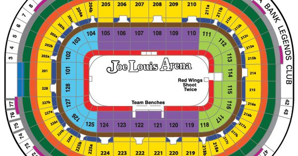 joe louis arena seating chart map detroit red wings tickets