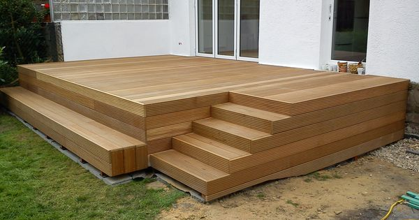 holzterrasse mit stufen drau en pinterest gardens decking and verandas. Black Bedroom Furniture Sets. Home Design Ideas