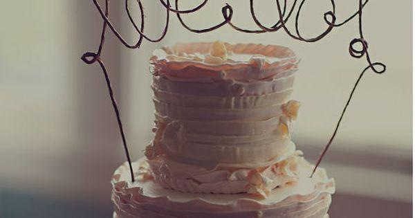 WE DO Cake Topper Banner