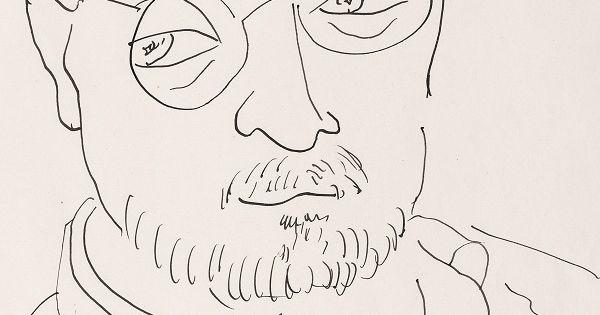 Matisse Contour Line Drawing : Matisse self portrait contour line