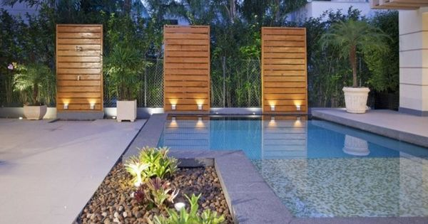 moderner garten terrasse pool beleuchtung architektur pinterest moderne g rten garten. Black Bedroom Furniture Sets. Home Design Ideas