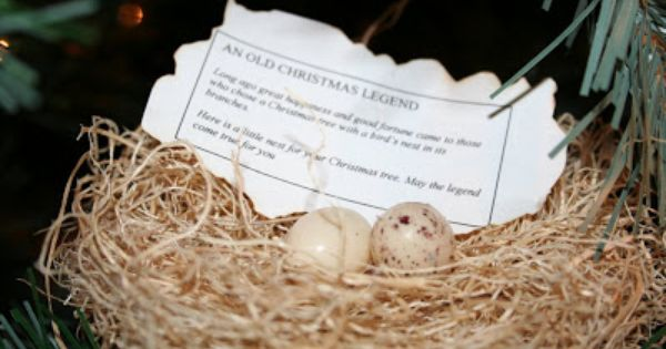 A Legend About Finding A Bird Nest In Your Christmas Tree