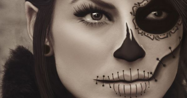 Epic Dia de los Muertos make-up - so beautiful! - Halloween costume