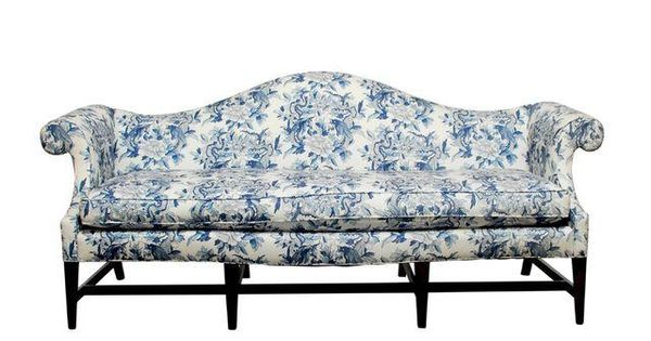 Image of ralph lauren chinoiserie fabric camelback sofa for Sofa exterior conforama