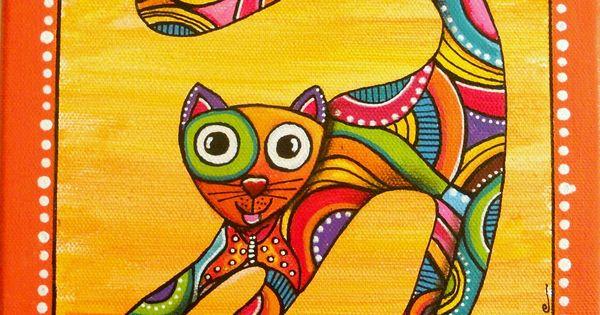 un tableau du chat joueur et tr s color papillon papillons d coration et chats. Black Bedroom Furniture Sets. Home Design Ideas