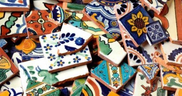 Mexican Talavera Tiles Broken Tile By The Pound Home