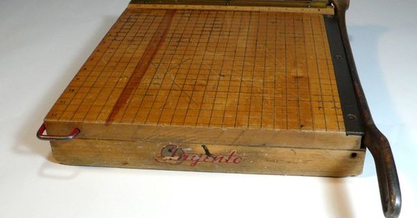Old School Paper Cutter. Remember this scary device from elementary school.