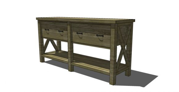 Buffet Table With Storage Underneath ~ Pb knock off buffet diy too cute i m building this