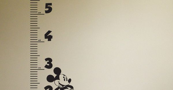 Growth Chart Wall Decals Disney Mickey Mouse etsy dyva ...