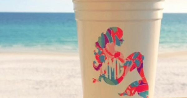 new le cup w   mermaid monogram   lilly pulitzer available