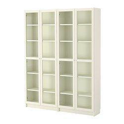 Billy Oxberg Bookcase White Glass 63x79 1 2x11 Ikea Bookcase With Glass Doors Ikea Bookcase Bookcase