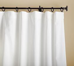 Pb Essential Curtain Rod Amp Endcap Finial Cast Iron Custom Drapes Pocket Curtains Ivory Curtains