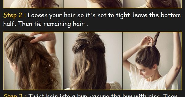 The Undone Bun Hair Tutorial | Beauty Tutorials, hair style, hairstyle