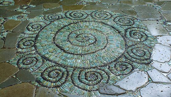 Create a Pebble Mosaic - Make edging, stepping stones, or even a