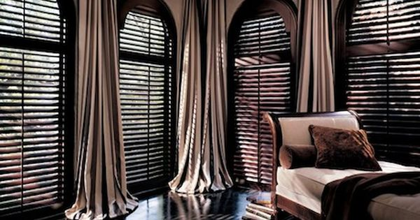 Hunter Douglas Heritance Shutters With Chocolate amp Creme