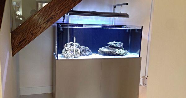 Stone grey modern design aquarium cabinet solutions for Petit aquarium design