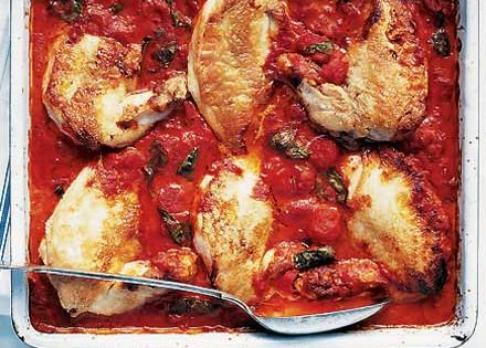 BBC Good Food Recipe: Chicken cacciatore. Level: Easy.