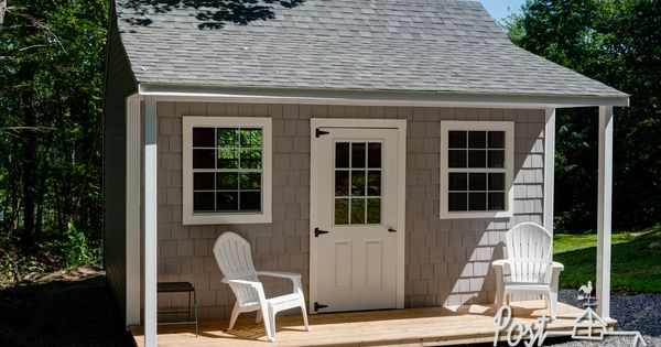 Vinyl Shake Shed with Farmers Porch | Garden Shed Ideas | Pinterest | Vinyls, Sheds and Shake