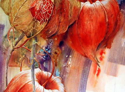 Dentelles d 39 amour en cage pinterest watercolor paintings and watercolor art - Fruit cage d amour ...