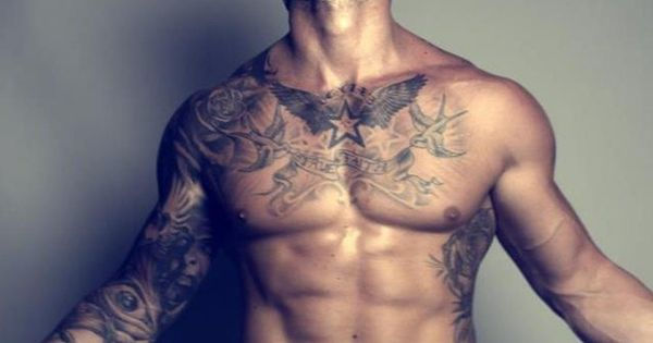 chest shoulder tattoo ideas pinterest schrott. Black Bedroom Furniture Sets. Home Design Ideas